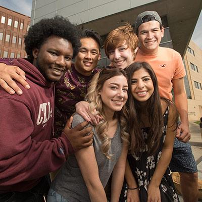 Students posing