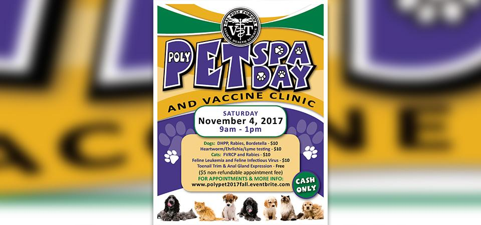 Public Welcome to Pet Spa Day, Low-Cost Vaccine Clinic