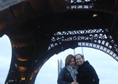 The Eifel Tower on a weekend trip to Paris