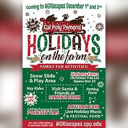 Cal Poly Pomona Christmas Tree 2020 Cal Poly Pomona to Celebrate Holidays on the Farm