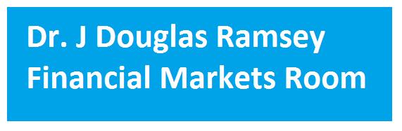 Dr J Douglas Ramsey Financial Markets Room