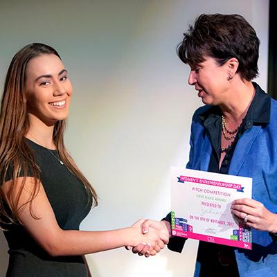 Women's Entrepreneurship Day winner