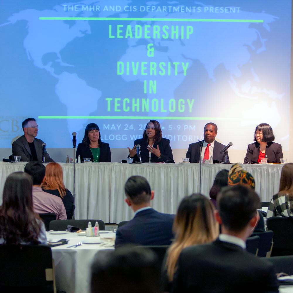 Panelists during MHR diversity conference