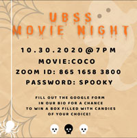 UBSS Halloween Movie night postet