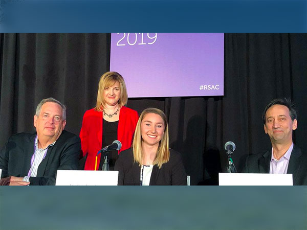 Dr. Dan Manson and CIS student Jordan Jacobson with the Work-Force Diversity panel at RSAC 2019