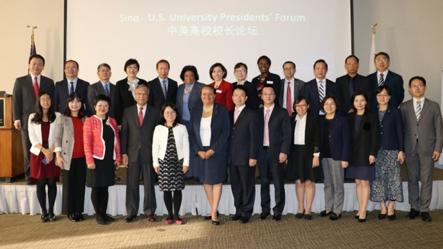 sino china delegation group picture