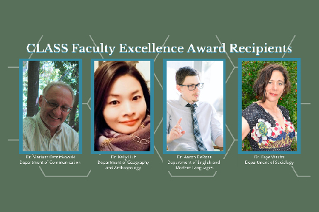 Faculty excellence awardees