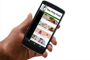Phone showing The Poly Post app