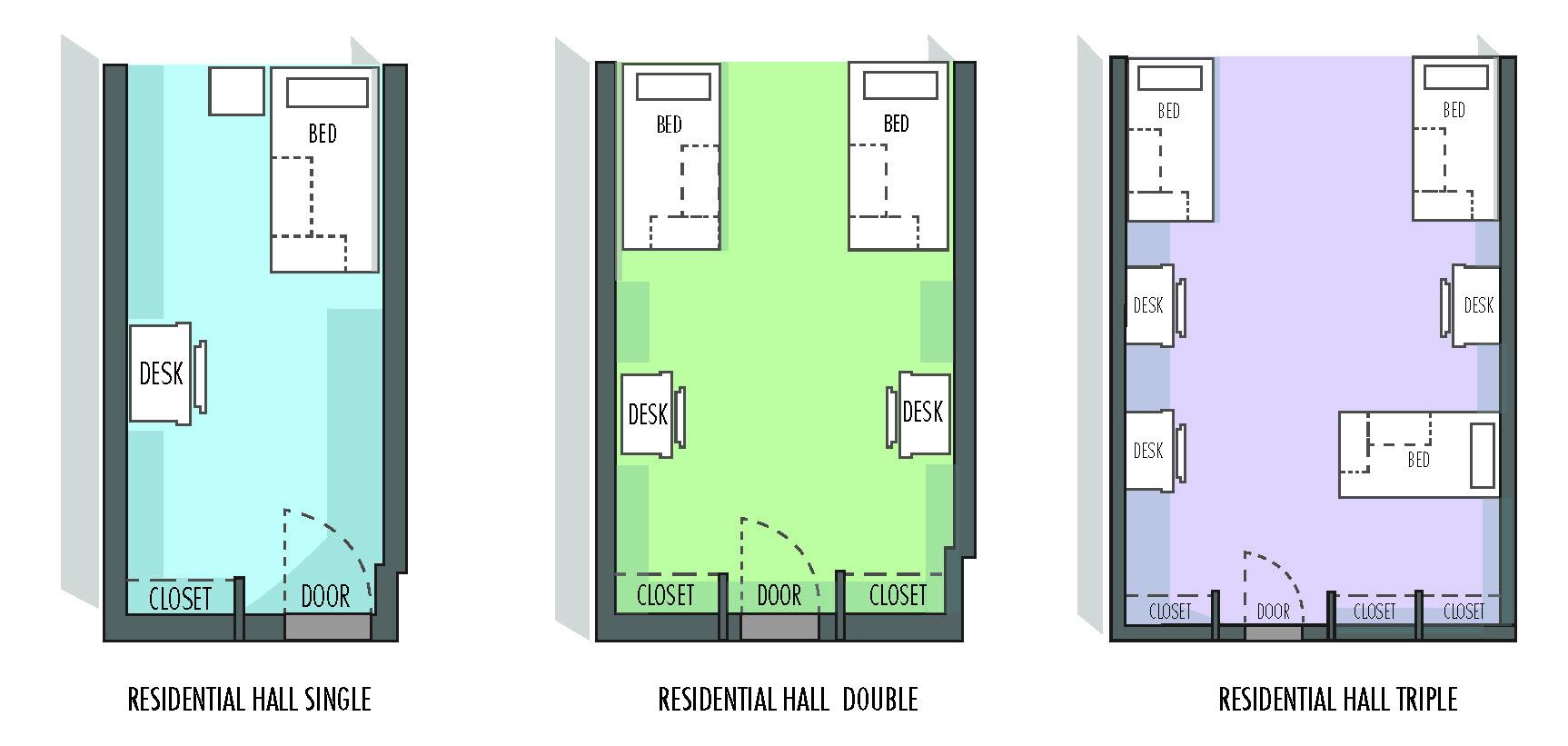 Hall Single Floorplan