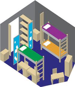 Hall Double Floorplan Hall Triple Floorplan. Room And Furniture Dimensions Part 86