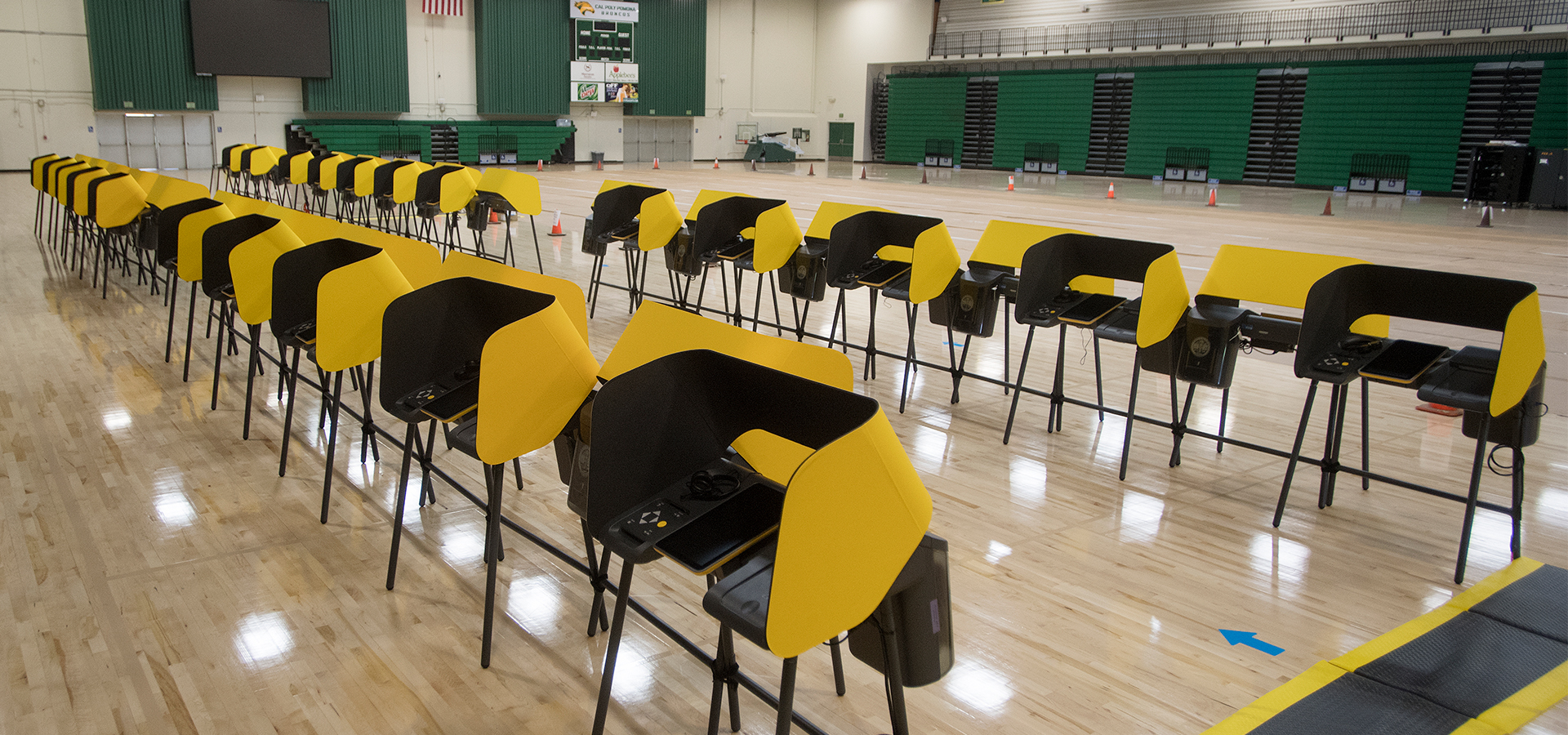 Kellogg Arena transformed with voting machines