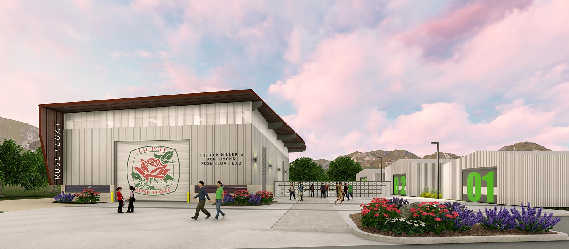 Rendering of the new Rose Float Lab and Design Complex