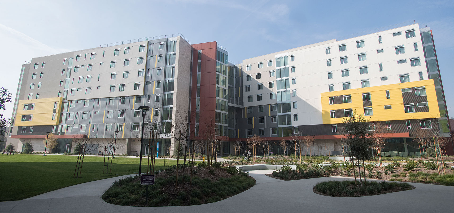 The New Dorms on campus