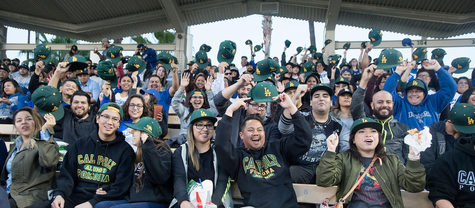 Cal Poly Pomona alumni, faculty and staff at Dodgers Stadium.