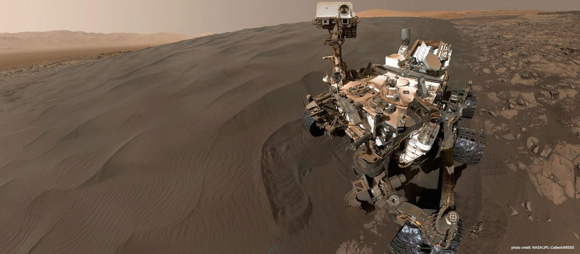Photo of Mars Rover. Photo credit: NASA/JPL-Caltech/MSSS