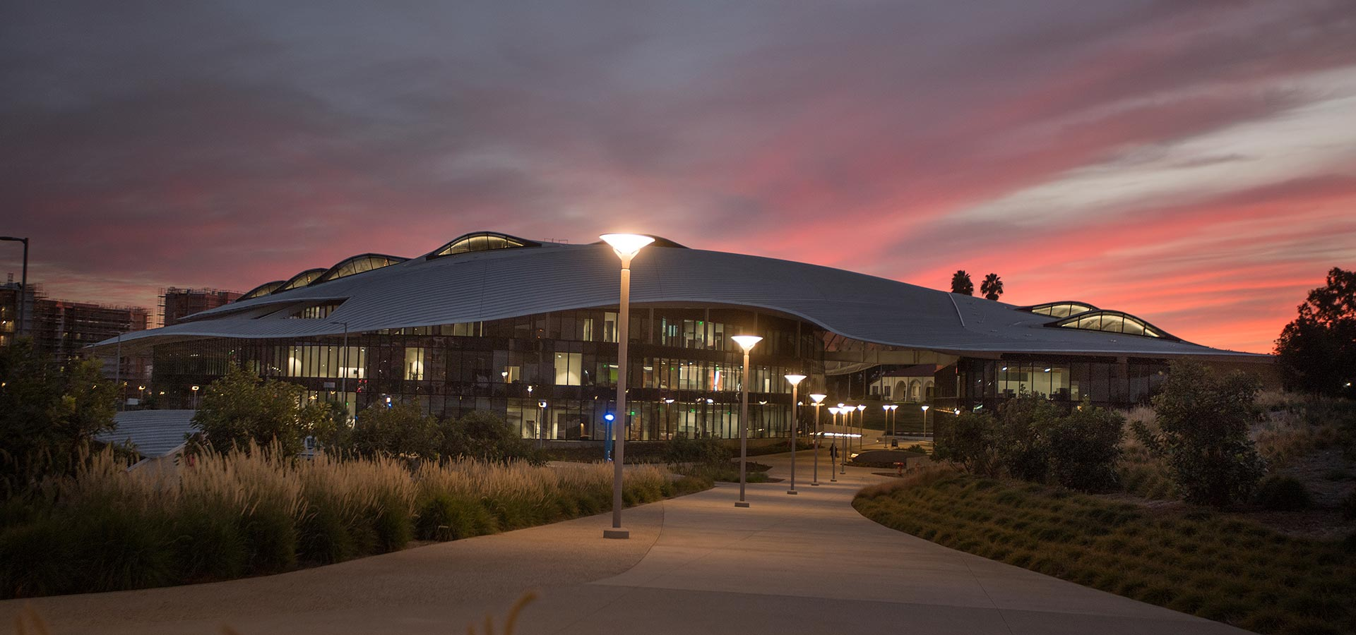 Student Services Building at Sunset