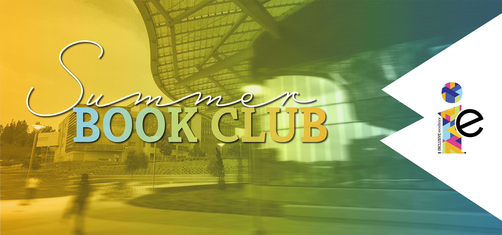 Summer Book Club banner with SSB and colorful overlay