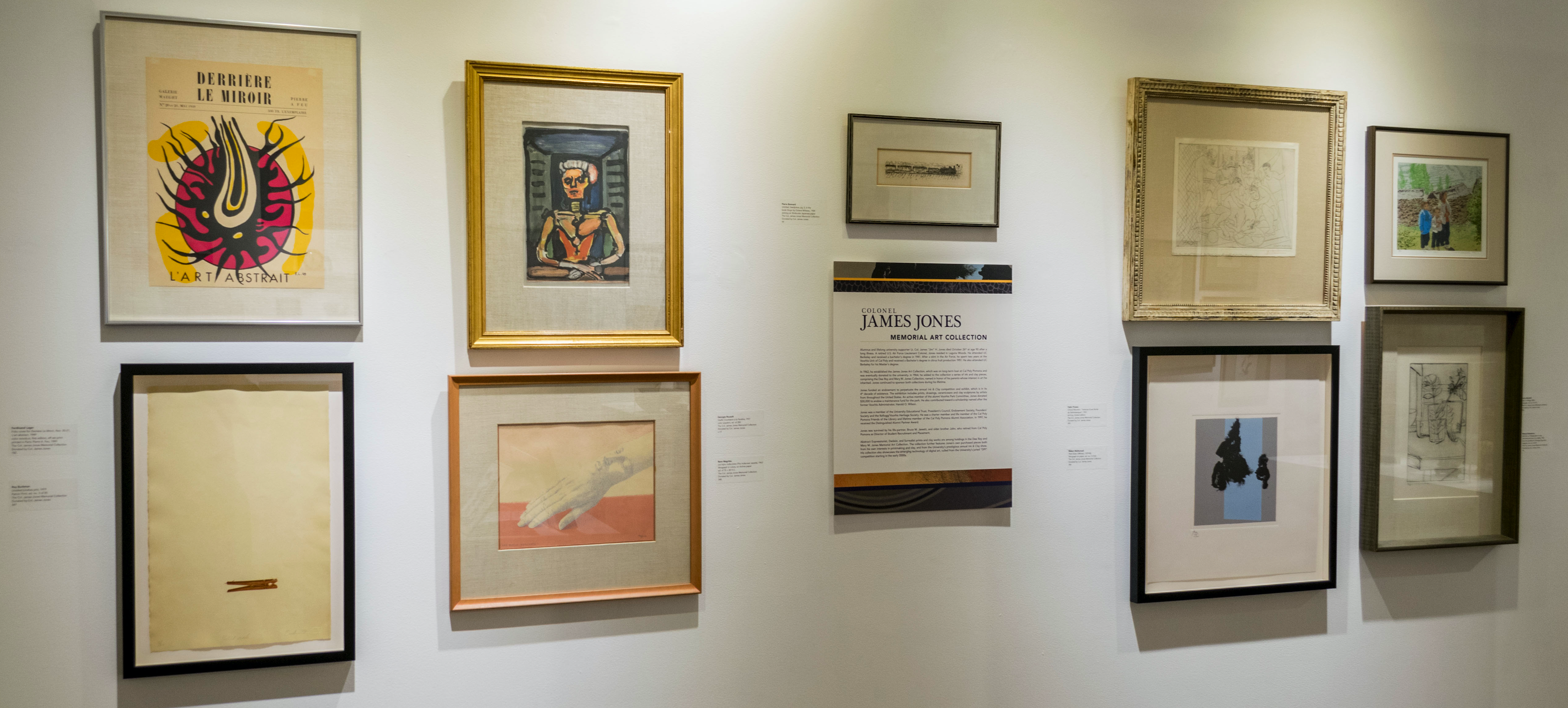 Highlight of Jones Collection: Installation view of University Permanent Collection Exhibition in the Huntley Gallery in 2017. Curated by Michele Cairella Fillmore.