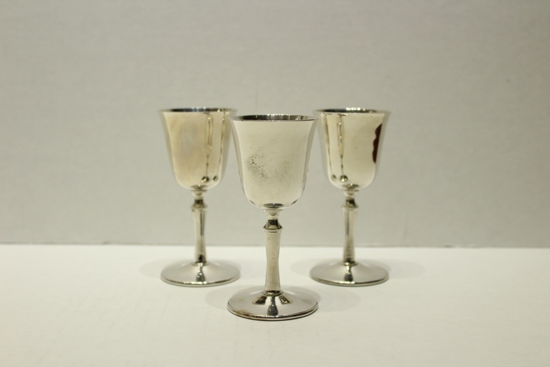 Small Silver Goblets piece.  navigate down for further details