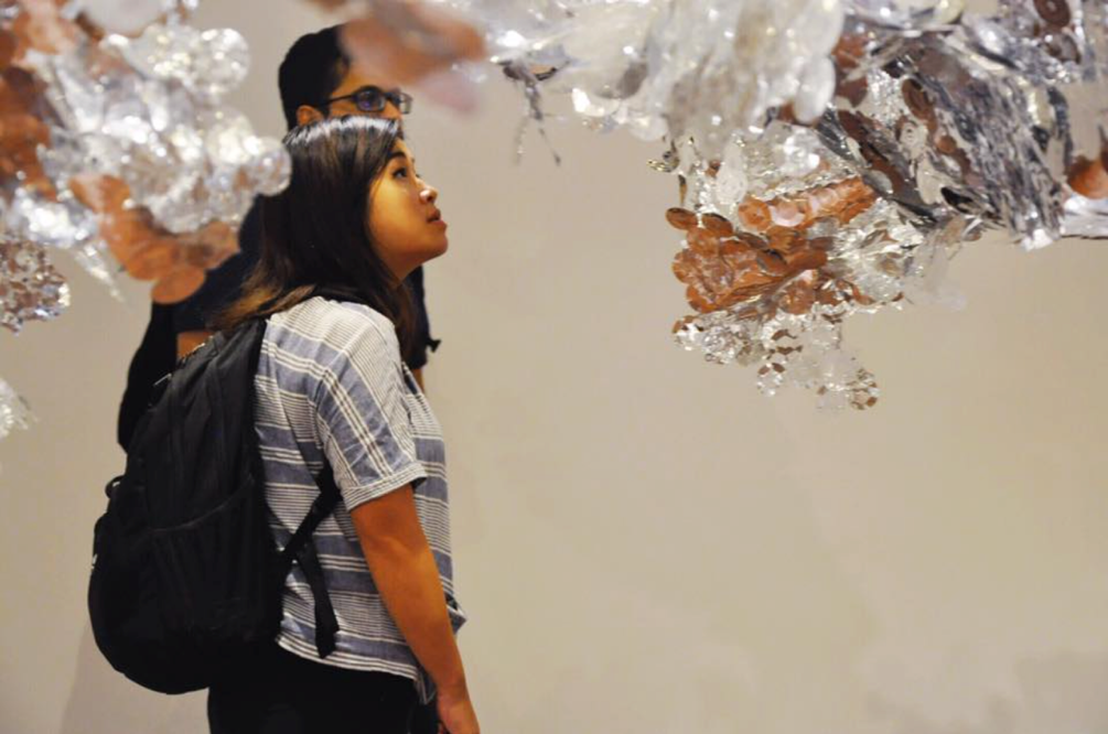Students visiting Olga Lah's Lucent Shifts.  navigate down for further details
