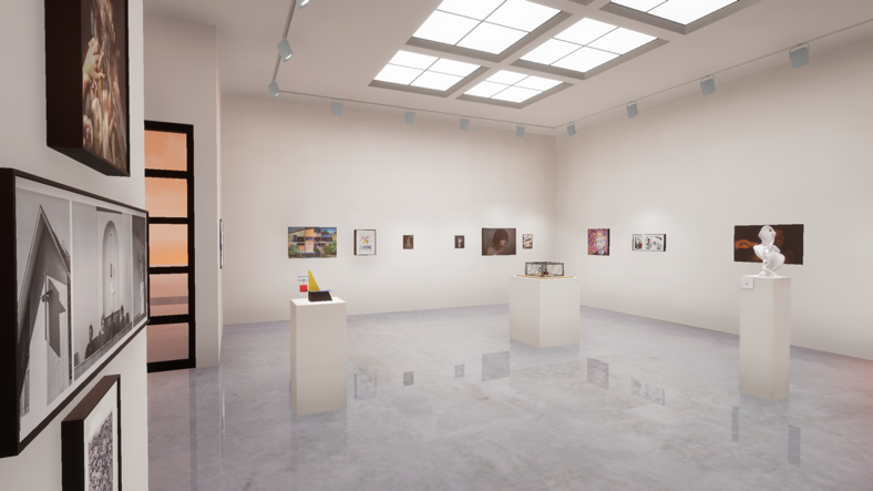 Unreal Engine-based virtual exhibition designs of the Kellogg Gallery's exhibition.  navigate down for further details