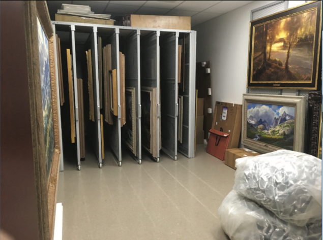 art collection storage.  navigate down for further details
