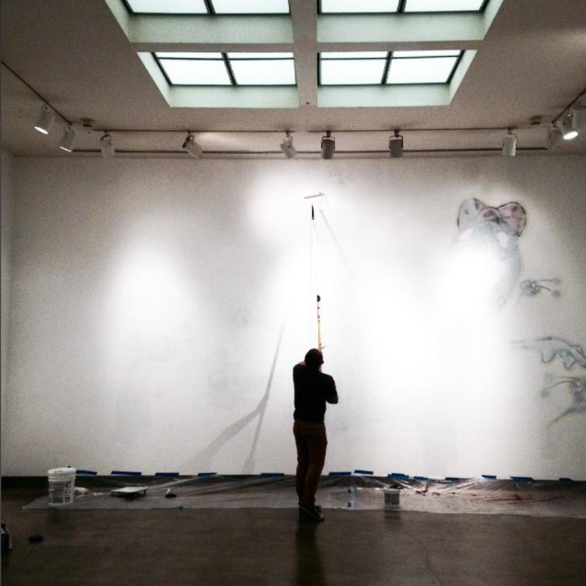 post-exhibition deinstallation.  navigate down for further details