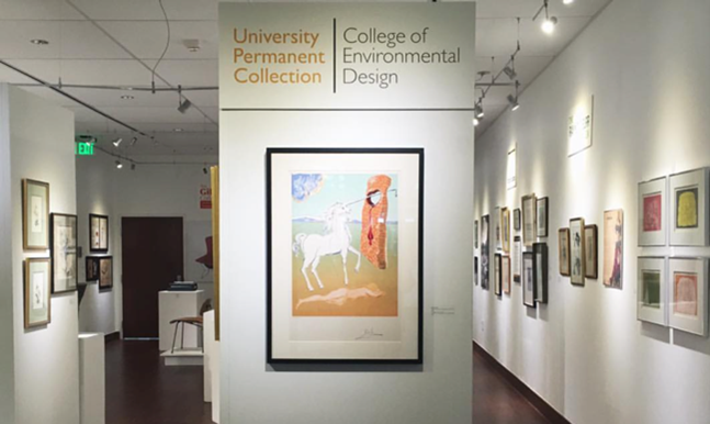 the Huntley Gallery hosted the first University Permanent Collection.  navigate down for further details
