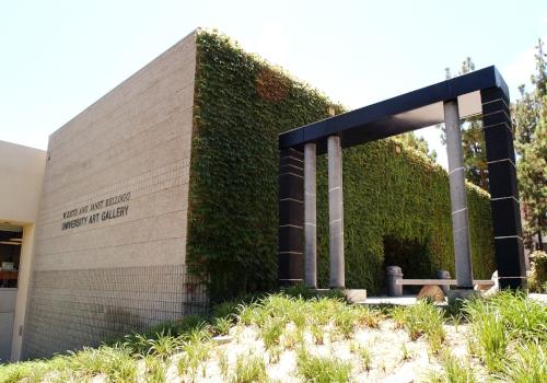 Photo of exterior of Kellogg Gallery.