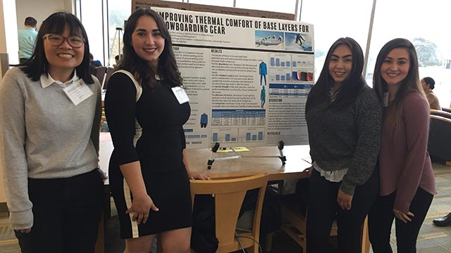 Image of CPP students standing in front of their poster presentation for the annual rsca conference