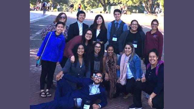McNair Scholars in a group posing