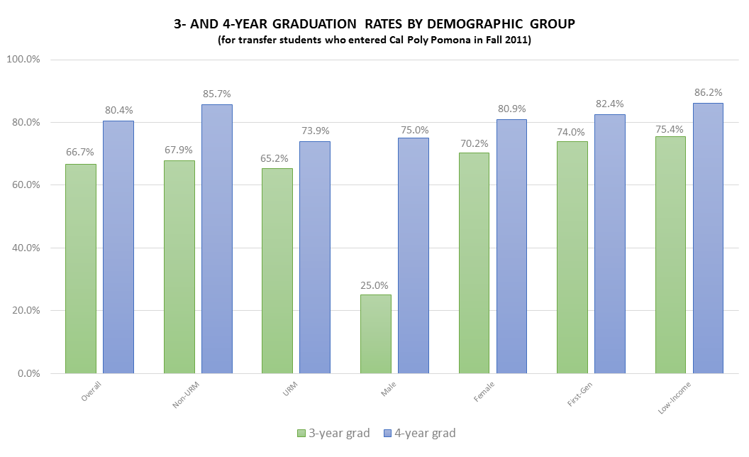 3 AND 4 YEAR GRADUATION RATES BY DEMOGRAPHIC GROUP