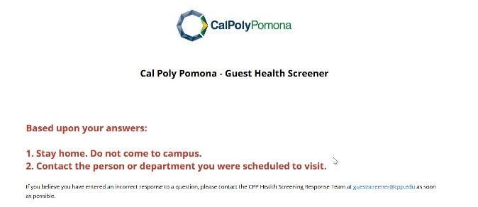 Screenshot of Campus Access Denied