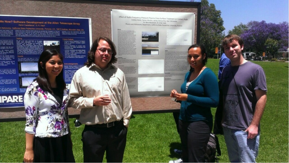 Lindsey Kabot with Ashley Matsushita, Ryan Hernandez, Tanner Worden at a Poster Presentation