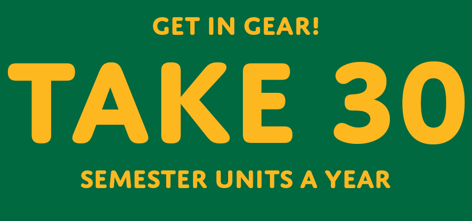 Get in gear! Take 30 semester units a year