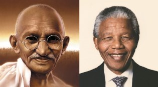 neslon mandela and mahtama ghandi To live the dreams and hopes of dr martin luther king, mahatma gandhi and nelson mandela, communities must unite for a common cause.