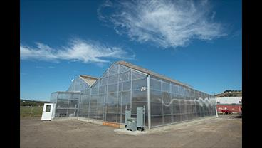 Exterior of the new greenhouse at Cal Poly Pomona