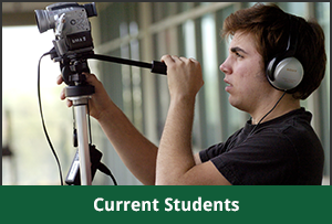 Current student operates camera