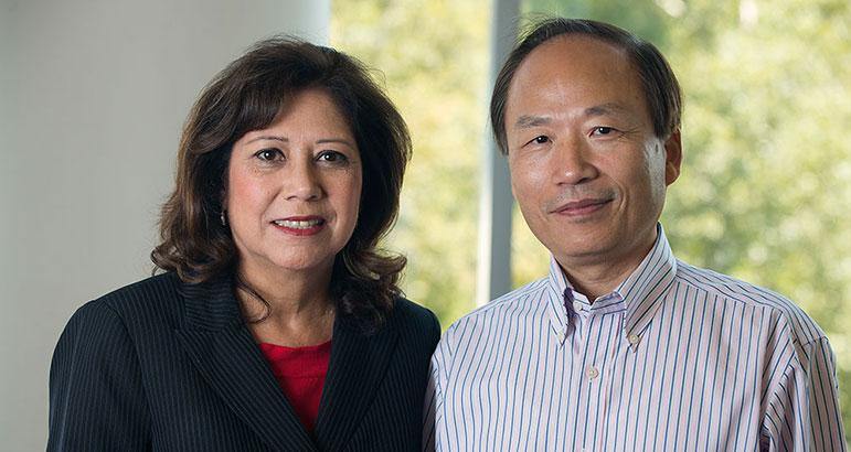 Hilda Solis and Dr. Wang