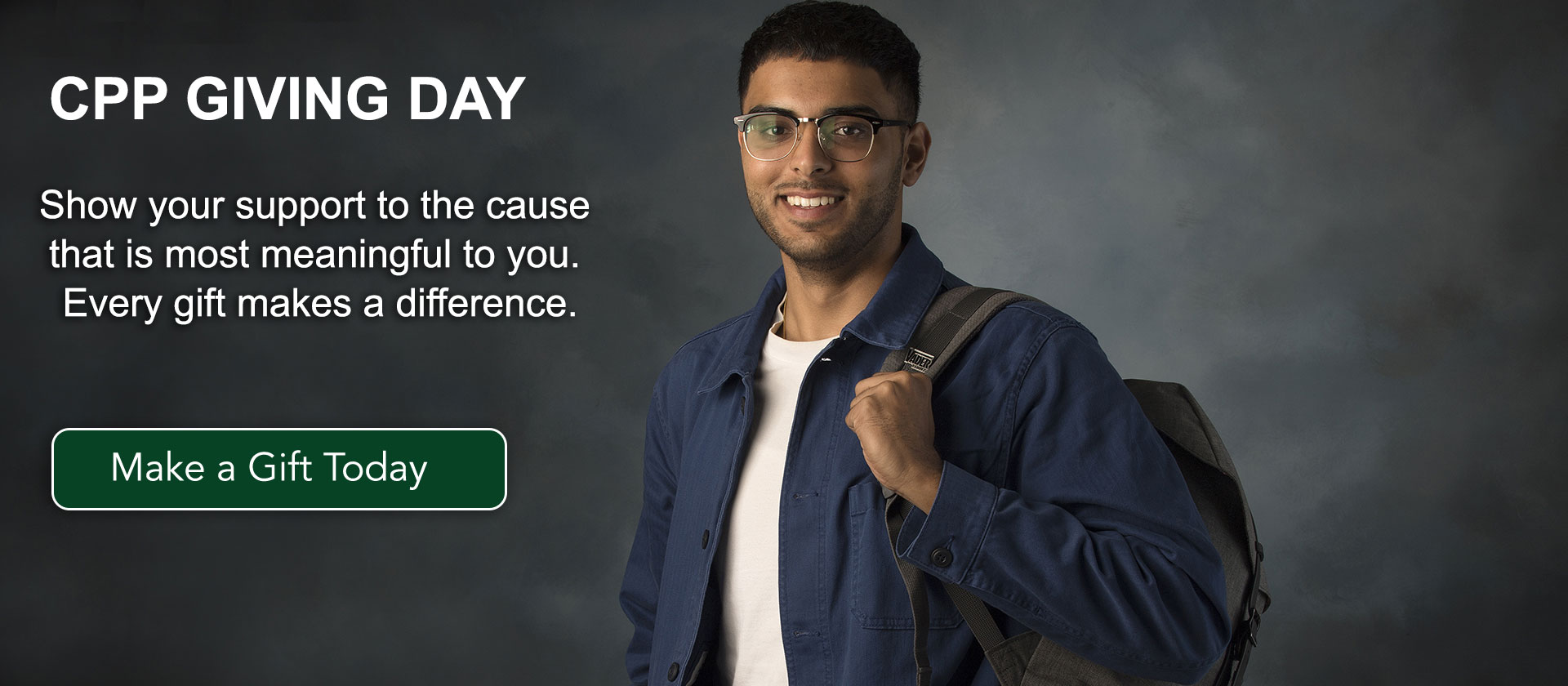 What's your Cause? When you donate on Giving Day, you support student success. Give Now