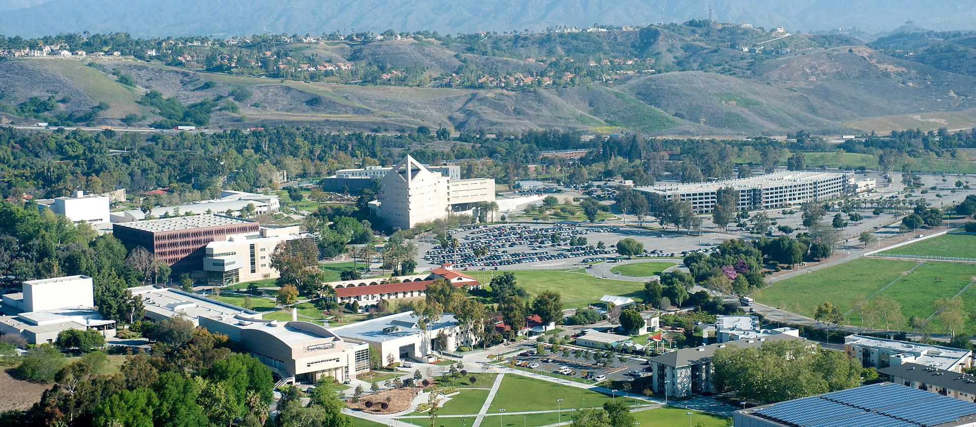 Aerial view of Cal Poly Pomona campus