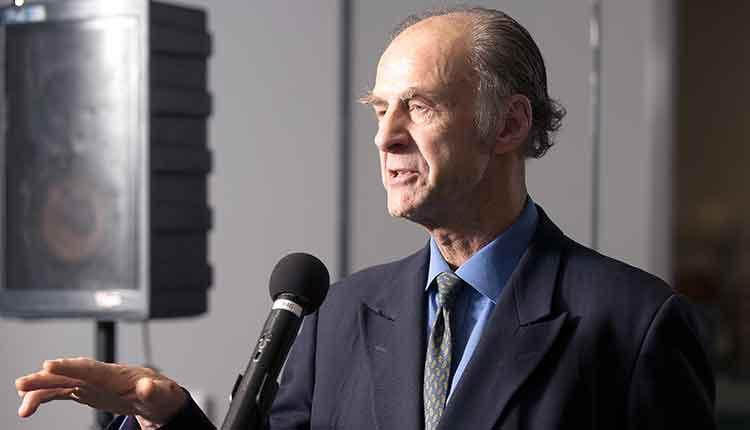 Ranulph Fiennes speaks on campus