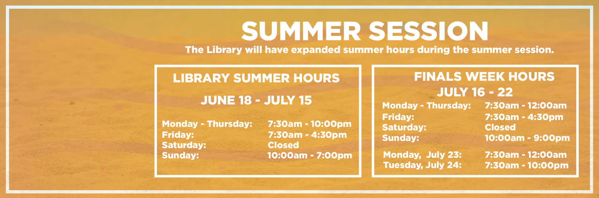 extended summer library hours