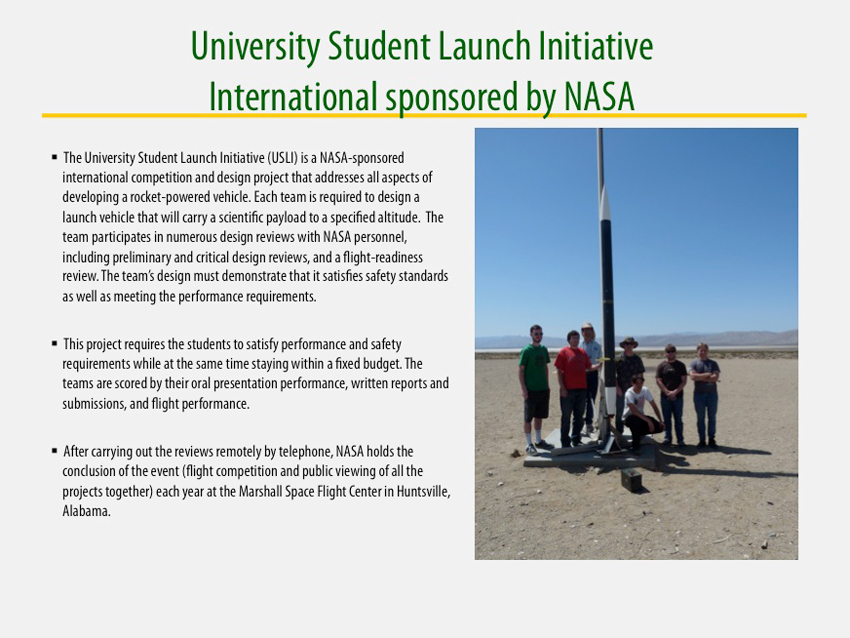 University Student Launch Initiative