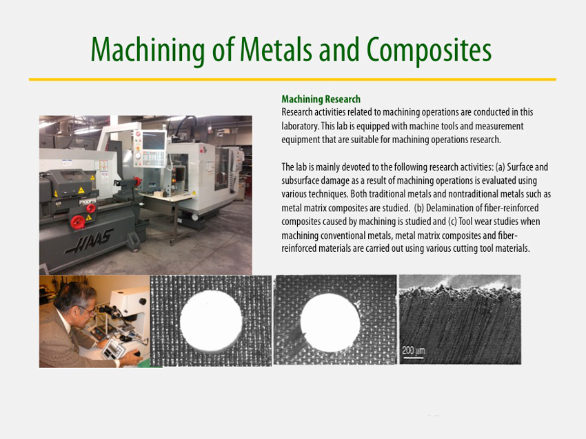 Machining of Metals and Composites