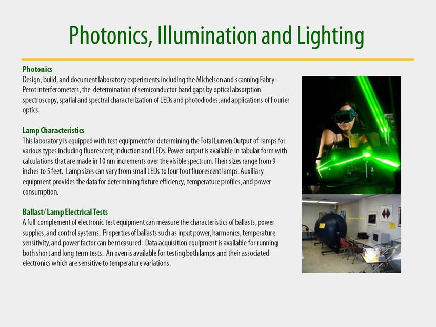 Photonics, Illumination and Lighting