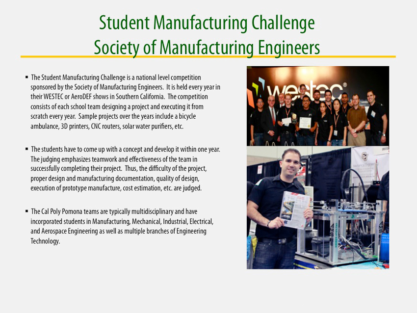 Student Manufacturing Challenge