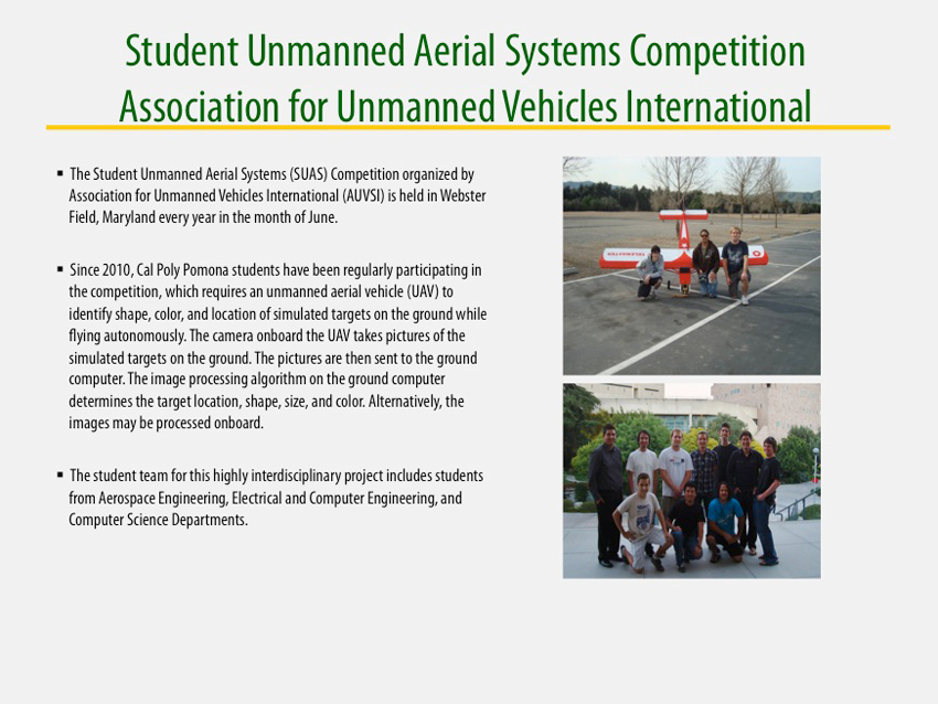 Student Unmanned Aerial Systems
