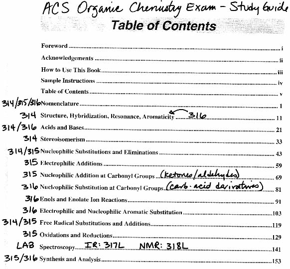 Physical chemistry study guide.