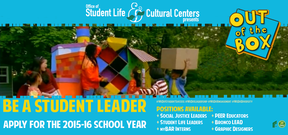 Be A Student Leader! Apply for 2015-2016 School Year